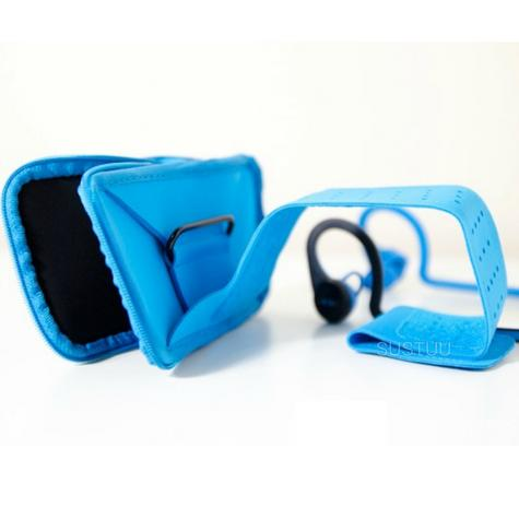 Plantronics Work Out Armband | Phone & Bluetooth Headset Holder | Backbeat Fit Blue Thumbnail 4