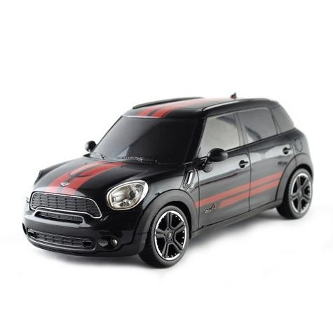 Remote Control Toy Car | Kids Model with Lights - Mini Countryman | 1:24 Scale | Black Thumbnail 2