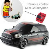 Remote Control Toy Car | Kids Model with Lights - Mini Countryman | 1:24 Scale | Black