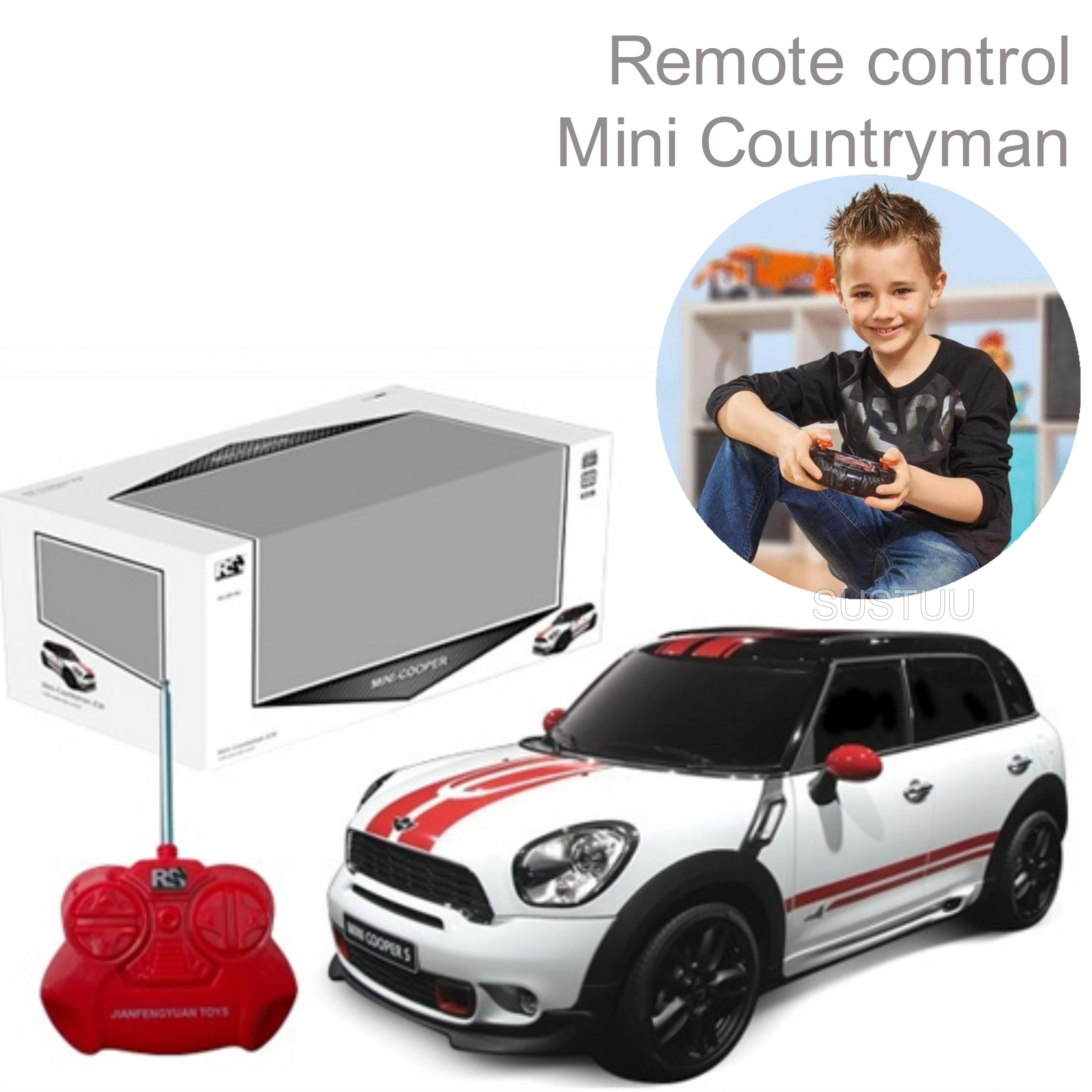 Amazing Remote Control Model Kids Toy Car | Mini Countryman 1:24 Scale | White | New