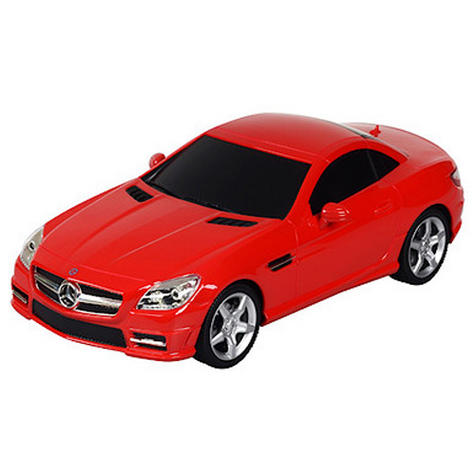 Remote Control Toy Car | Kids Model With Lights-Mercedes-Benz SLK 350 | 1:24 Scale | Red Thumbnail 3