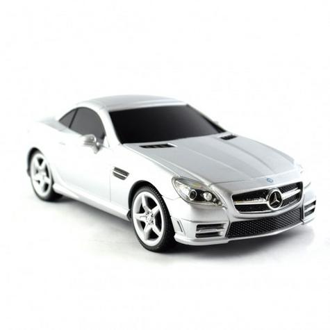 Remote Control Toy Car | Kids Model - Mercedes-Benz SLK 350 | 1:24 Scale | Silver | New Thumbnail 3