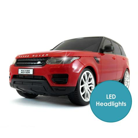 Remote Control ToyCar | Kids Model With Lights - 2014 Range Rover sport | 1:24 Scale | Red Thumbnail 4