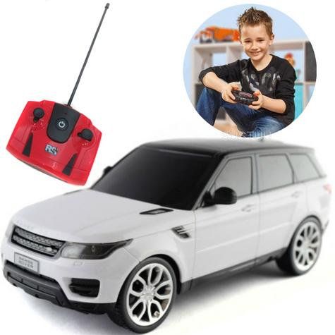 Remote Control Toy Car | Kids Model With Lights - 2014 Range Rover sport | 1:24 Scale | White | New Thumbnail 1