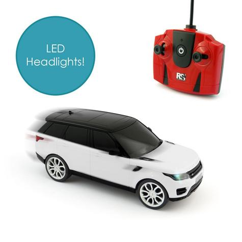 Remote Control Toy Car | Kids Model With Lights - 2014 Range Rover sport | 1:24 Scale | White | New Thumbnail 6