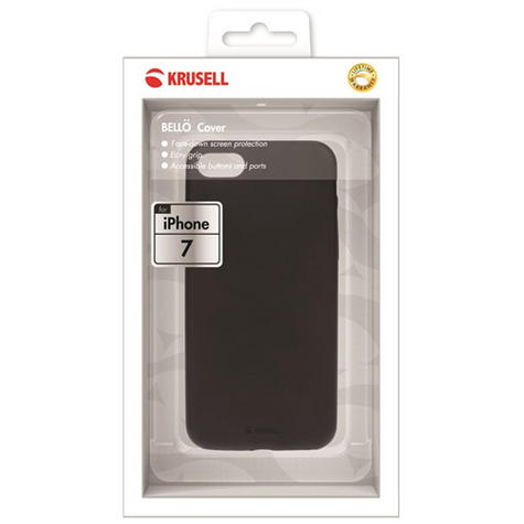 Krusell Bello Silicon Back Case Cover Protector | Anti-Scratch | iPhone 7 & 8 | Black Thumbnail 2