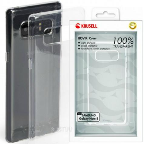 Krusell Bovik Transparent Back Cover | Protective Clear Case | Samsung Galaxy Note 8 Thumbnail 1