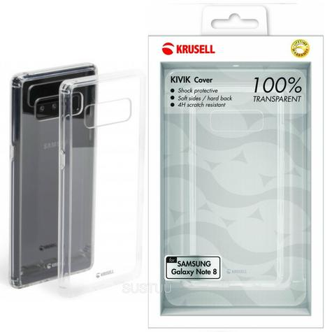 Krusell Kivik Transparent Back Cover | Protective Clear Case | Samsung Galaxy Note 8 Thumbnail 1