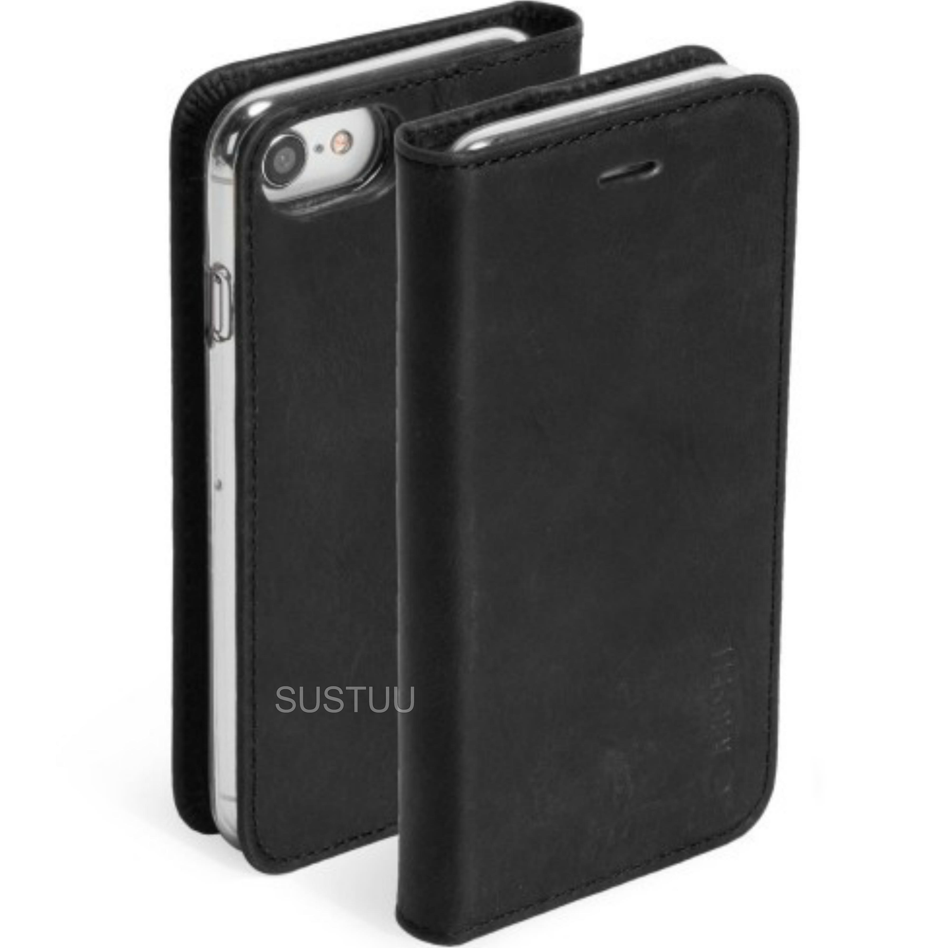 Krusell Sunne Flip Case + 4 Card Protective Cover | Stand function + Bill Pocket | For iPhone 8