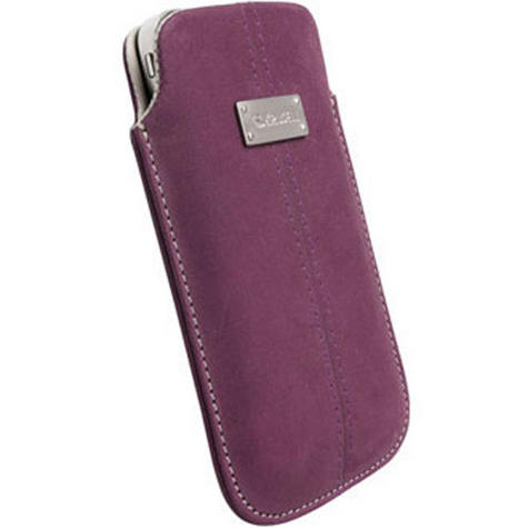 Krusell Luna Universal Nubuck Pouch/ Sleeve | MobilePhone Protective Case/Cover-XXL | Dark Purple Thumbnail 1