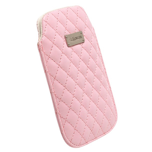 Krusell Avenyn Pouch/Sleeve | MobilePhone Protective Leather Case/Cover-XXL | Anti-Scratch | Pink