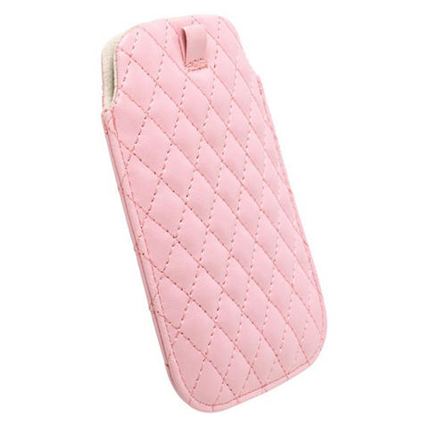 Krusell Avenyn Pouch/Sleeve | MobilePhone Protective Leather Case/Cover-XXL | Anti-Scratch | Pink Thumbnail 2