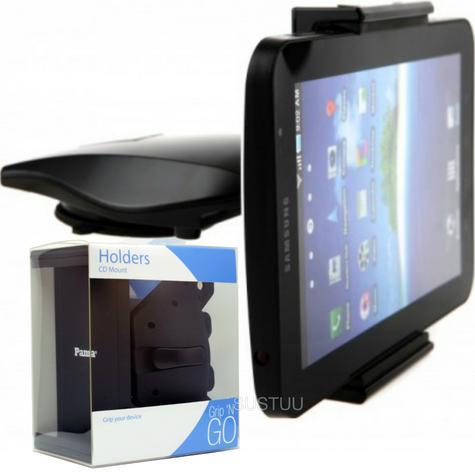 Universal CD Slot Tablet Mount | Spring Holder/Cradle | 11-17cm Devices | 360°Rotation Thumbnail 1