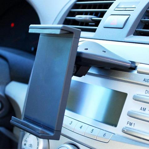 Universal CD Slot Tablet Mount | Spring Holder/Cradle | 11-17cm Devices | 360°Rotation Thumbnail 3