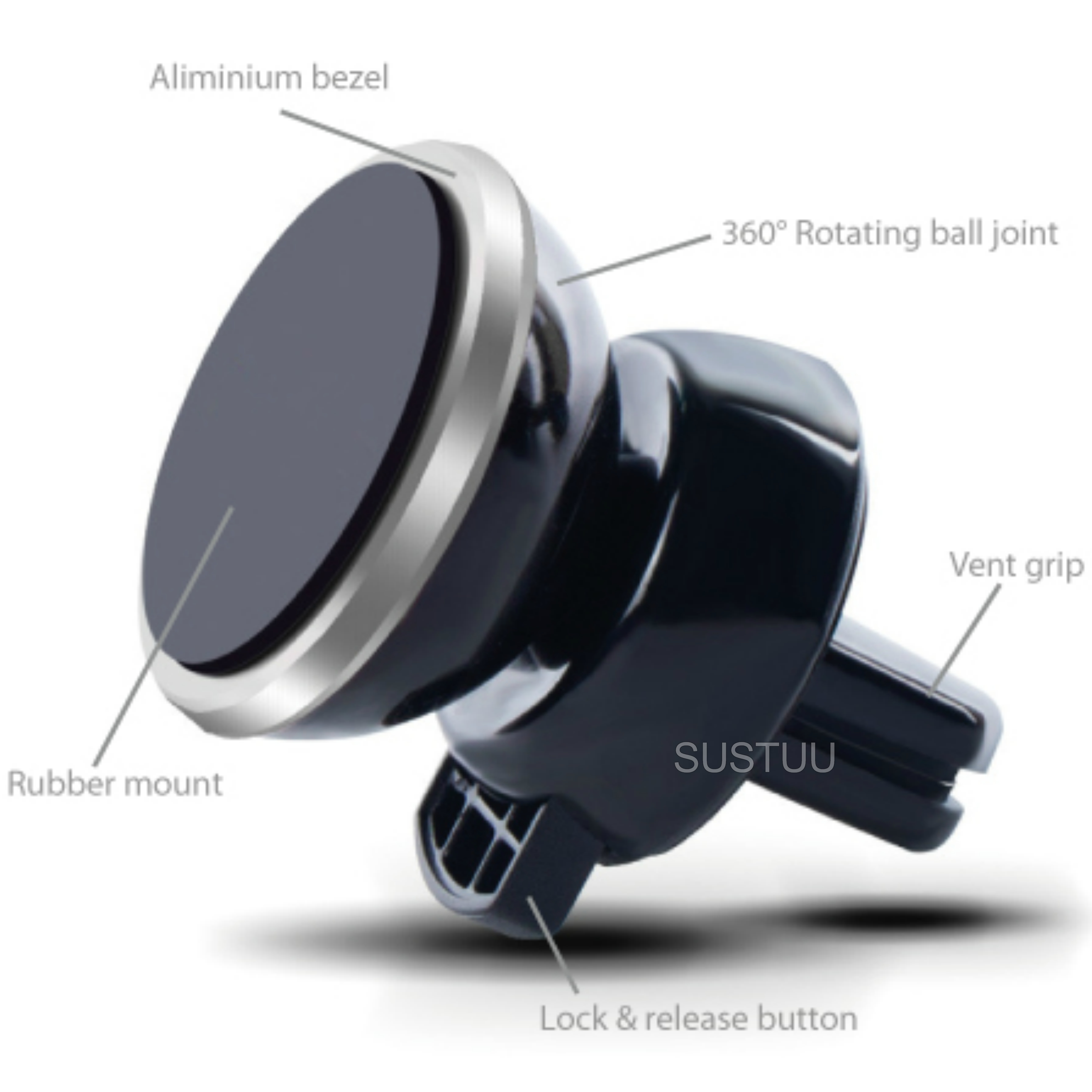 Universal In Car Magnetic Vent Holder/ Mount | For Smartphone - iPhone 6s/ 7 - GPS/ SatNav