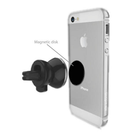 Universal In Car Magnetic Vent Holder/ Mount | For Smartphone - iPhone 6s/ 7 - GPS/ SatNav Thumbnail 6