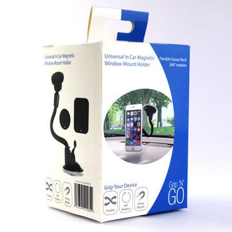 Universal In Car Magnetic Holder | Windscreen Suction Mount | For Smartphone - GPS/ SatNav Thumbnail 3