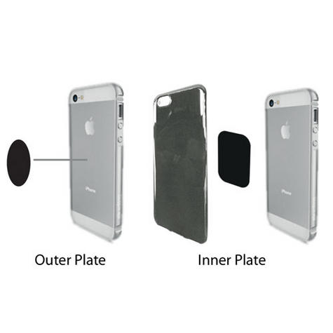 Spare Replacement Adhesive Magnetic Plates | For Mobile Phone-GPS / SatNav | BRKSMP Thumbnail 3