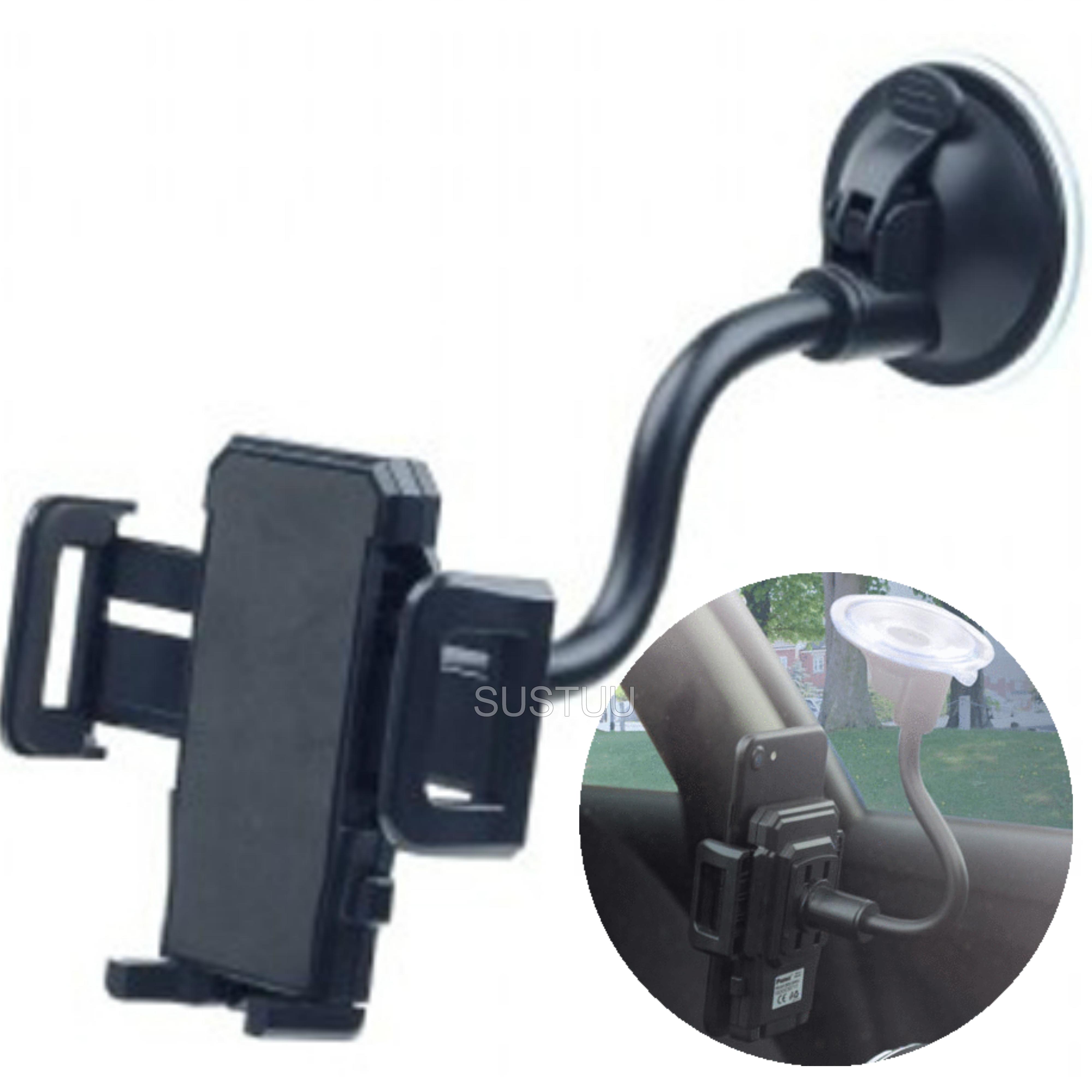 Universal In Car Windscreen Mount | Holder / Cradle | For Mobile Phone - iPod - GPS / SatNav
