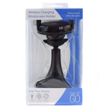 Universal in Car Qi Wireless MobilePhone Charger + Holder | Suction Cup Dash Mount Thumbnail 5