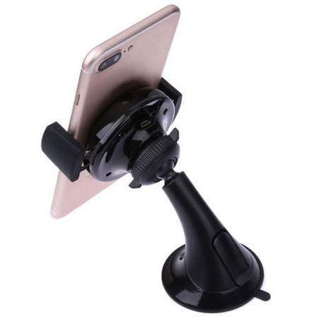 Universal in Car Qi Wireless MobilePhone Charger + Holder | Suction Cup Dash Mount Thumbnail 8