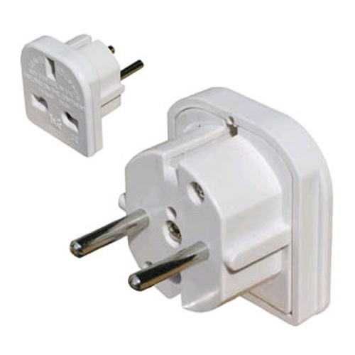 Travel Adaptor | UK 3 Pin to EU 2 Pin Plug Converter | In Europe + Belgium & France