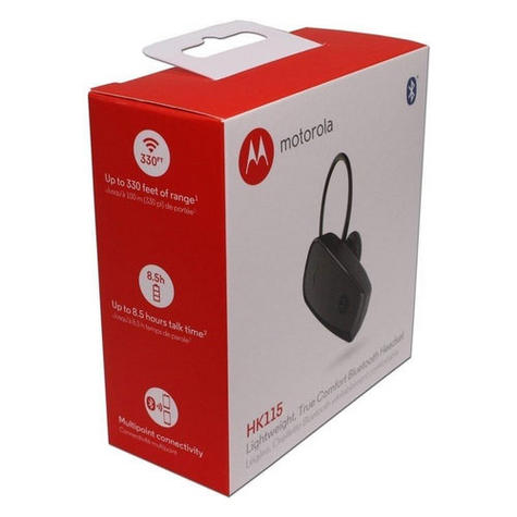 Motorola Wireless Ear-Hook Bluetooth Headset/ Handsfree | Smartphones & Tablet | HK115 Thumbnail 3