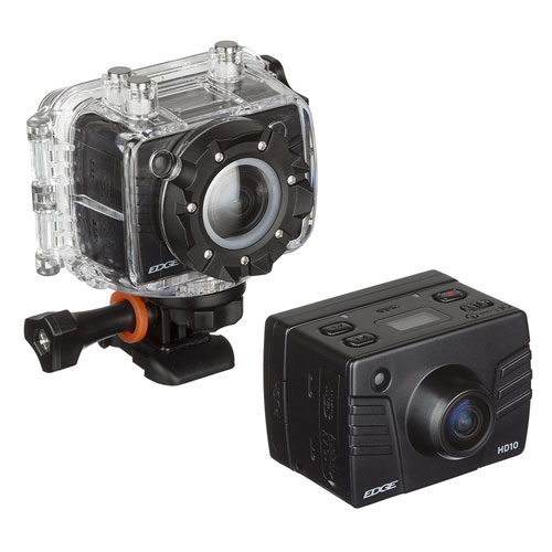 Kitvision Edge HD10 Action Camera with Mounting   Built-in Microphone   1080p Video