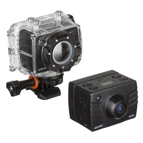 Kitvision Edge HD10 Action Camera with Mounting   Built-in Microphone   1080p Video Thumbnail 1