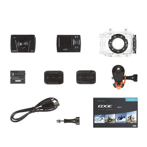 Kitvision Edge HD10 Action Camera with Mounting   Built-in Microphone   1080p Video Thumbnail 5