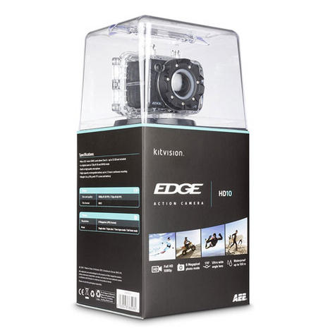 Kitvision Edge HD10 Action Camera with Mounting   Built-in Microphone   1080p Video Thumbnail 6