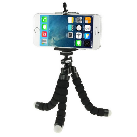 Mini Flexible Tripod Stand | Lightweight Holder / Cradle | For Mobile Phone Up To 85 mm Thumbnail 1