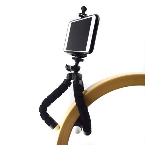 Mini Flexible Tripod Stand | Lightweight Holder / Cradle | For Mobile Phone Up To 85 mm Thumbnail 2