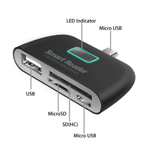 OTG Connection Kit | Adapter with USB Port | SD Card Reader | For Mobile Phones / Smart Phones Thumbnail 2