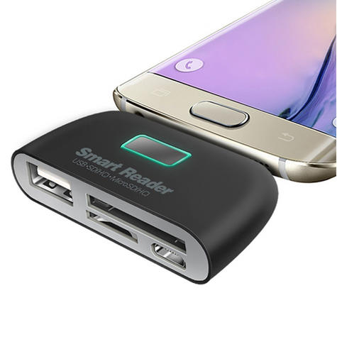 OTG Connection Kit | Adapter with USB Port | SD Card Reader | For Mobile Phones / Smart Phones Thumbnail 5