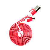 Charge & Sync Data Cable   Tangle Free Flat Micro USB Lead   For Mobile Phone - Tablet