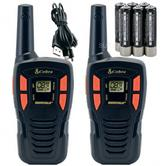 Cobra AM245 Walkie Talkie Radios*2?Rechargeable Batteries & USB Cable?5KM Range