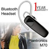 Plantronics M70 Bluetooth Headset | Mobile Handsfree Call | For Smartphone | 10m Range