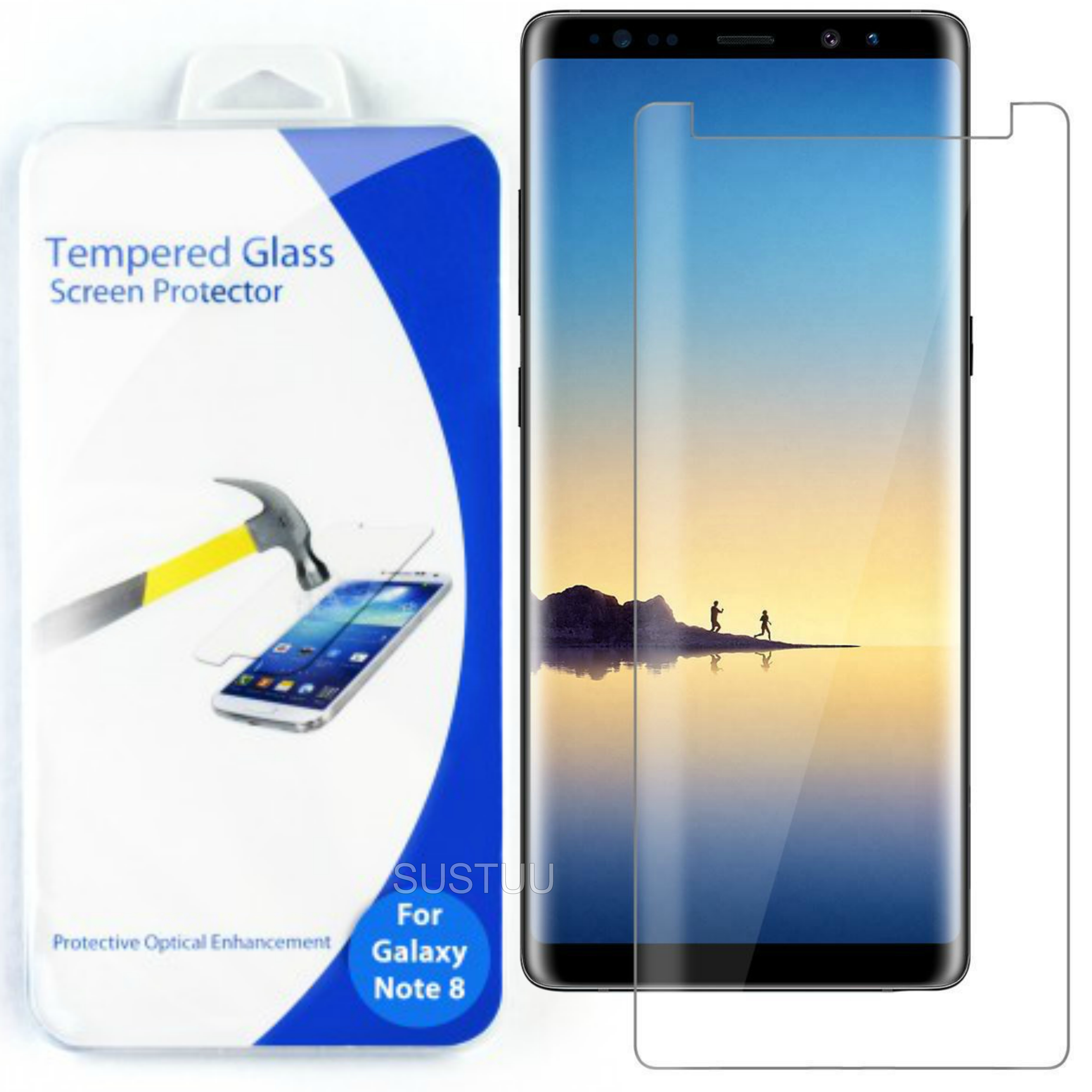 Tempered Glass Screen Protector | Clear Anti Scratch Guard | For Samsung Galaxy Note 8