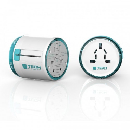 Travel Blue Classic Mains Adapter | UK/EURO/AUS/USA Plug | Covers Over 150 Countries