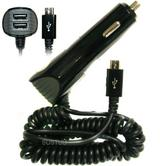 Pama Micro USB in-Car Fast Charger | Twin/Dual USB Port | 4.8 Amp | Tablet - MobilePhones