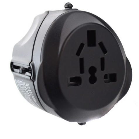 Universal World Plug Travel Adapter|Converts Charger AU/US/UK/EU|USB input|NEW Thumbnail 2