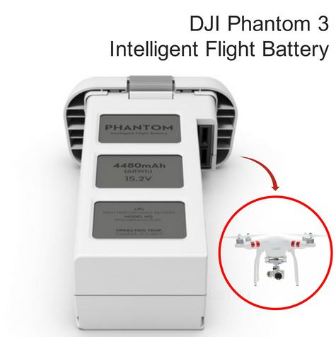 DJI Phantom 3 Intelligent 15.2V 4480mAh LiPo 4S Flight Battery - CP.PT.000397 Thumbnail 1