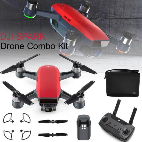 DJI SPARK Fly More Camera Drone Combo Kit UK|12MP|HD 1080p|CP.PT.000906|Lava Red Thumbnail 1
