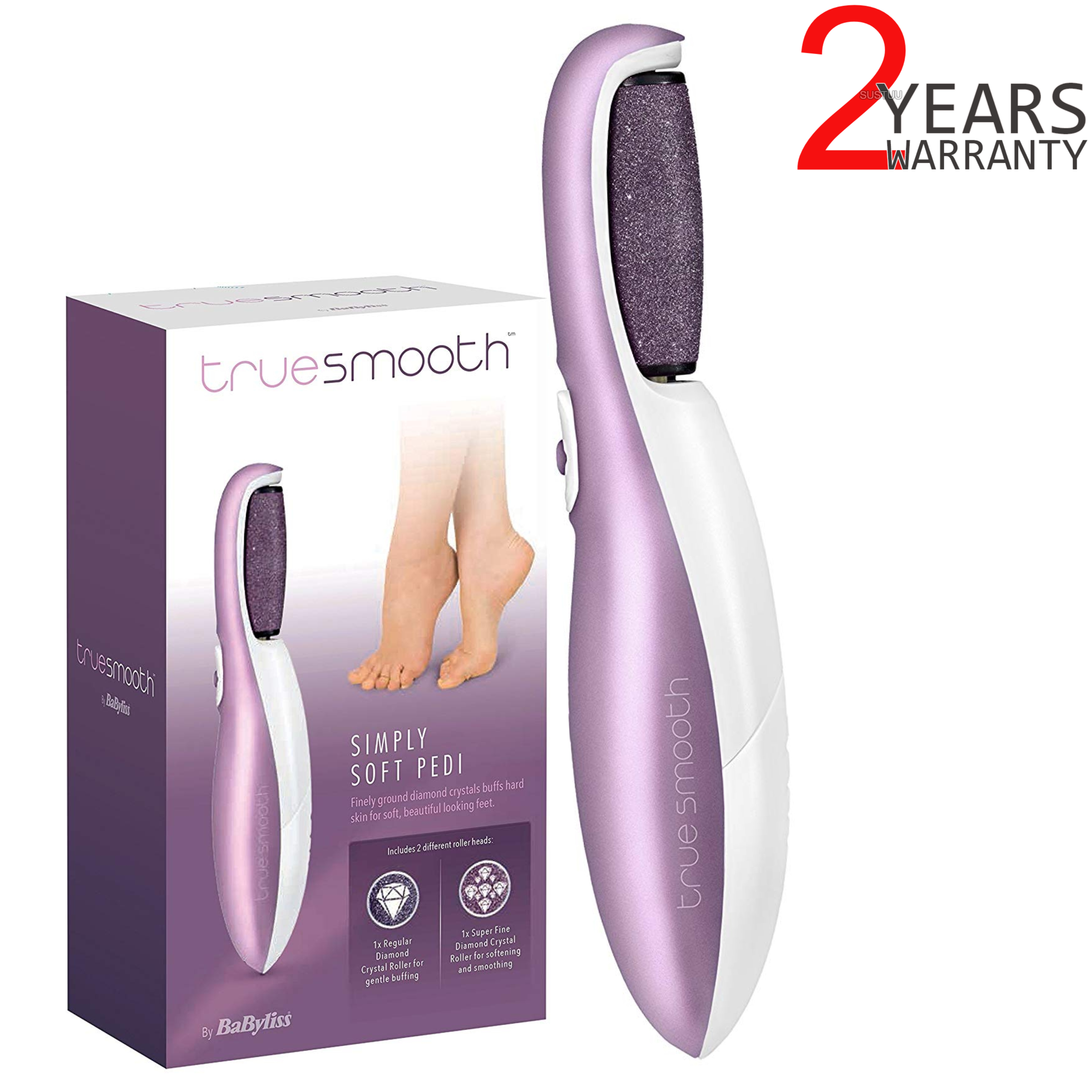 BaByliss Simply Soft Pedicure| Battery Operated| True Smooth| For Women| 8780U| New