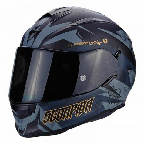 Scorpion Exo 510 Air Cipher Full Face Motorcycle Helmet|TUV Tested|Unisex|Matt Black/Gold Thumbnail 2
