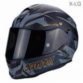 Scorpion Exo 510 Air Cipher Motorcycle Full Face Helmet|TUV Tested|Unisex|Matt Black/Gold|X-LG