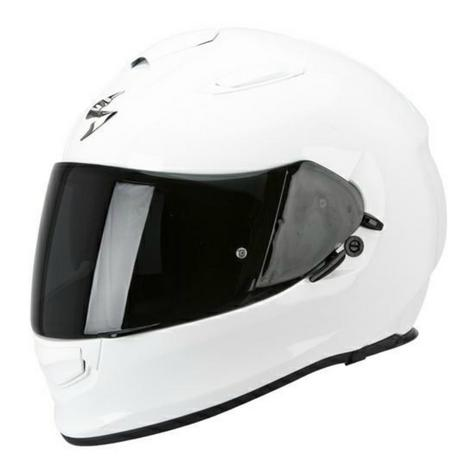 Scorpion Exo 510 AIR Full Face Motorcycle Helmet | ECE 22-05 | TUV Tested | Gloss White Thumbnail 2