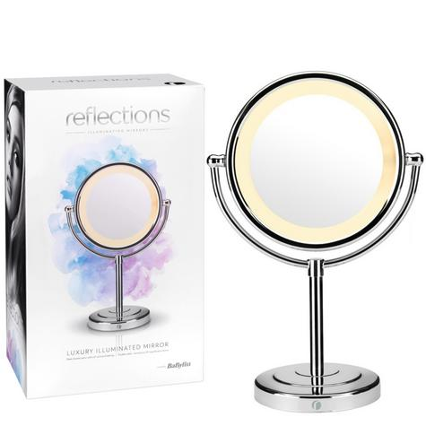 BaByliss 360° Reflections Luxury Illuminated Mirror|Hair & Make-up|Chrome 9429BU Thumbnail 1