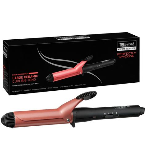 TRESemme Large Ceramic Curling Tong| 32mm Barrel| Auto Shutoff| Swivel Cord| 2805BU Thumbnail 1